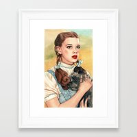kansas Framed Art Prints featuring I Don't Think We're In Kansas Anymore by Helen Green