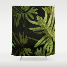Leaves #green#leaves Shower Curtain