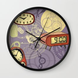 TIC TAC TIME violet Wall Clock