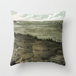Chattanooga - Tennessee - 1887 Throw Pillow