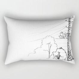 view from train Rectangular Pillow