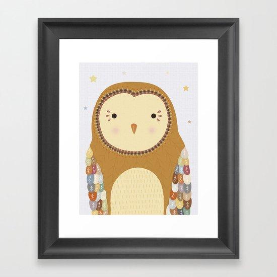 Autumn the Owl Framed Art Print