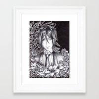 black butler Framed Art Prints featuring Black Butler - Sebastian Michaelis by Furiarossa