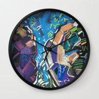 waterfall Wall Clocks featuring Waterfall by Kate & Oleg
