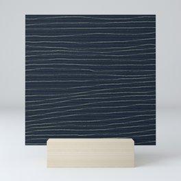primitive stripe Mini Art Print