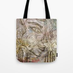 Reflection on  'Second Hand Flood Newz' Tote Bag