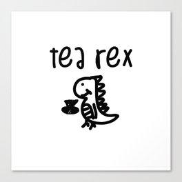 Tea Rex Canvas Print