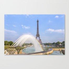 PARIS Eiffel Tower with rainbow Canvas Print