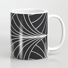 Diamond Series Inter Wave White on Charcoal Coffee Mug