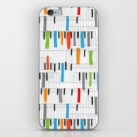 piano iPhone & iPod Skins featuring piano by mondebettina