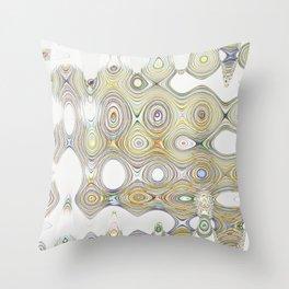 Crazy Circles Throw Pillow