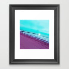 SEA ABSTRACTION Framed Art Print