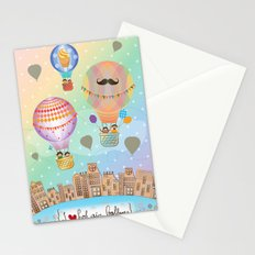 I {❤} Hot Air Balloon Stationery Cards