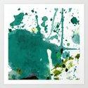 emerald green splash by agnestrachet