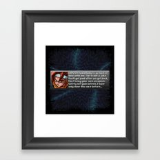 Safety Not Guaranteed New Game + Framed Art Print