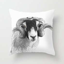 Black and which moorland sheep Throw Pillow