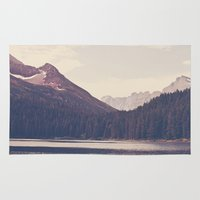 lake Area & Throw Rugs featuring Morning Mountain Lake by Kurt Rahn