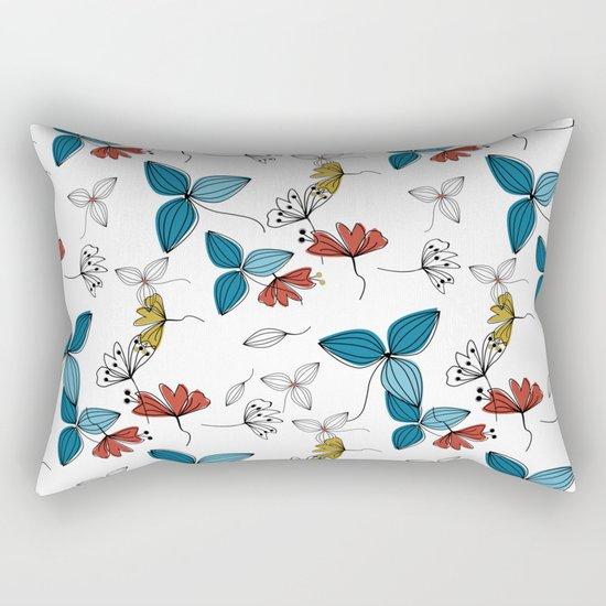 The floral pattern . Rectangular Pillow
