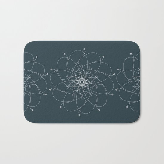 Ornament – Nightblu Blossom Bath Mat