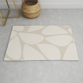 Riverbed Stones Abstract Minimalist Pattern Pale and Putty Rug