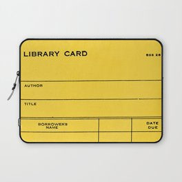 Library Card BSS 28 Yellow Laptop Sleeve