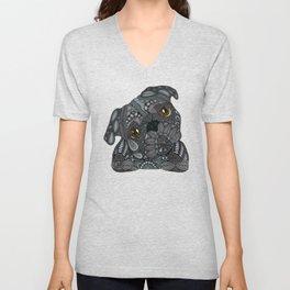 Black Pug 2016 Unisex V-Neck