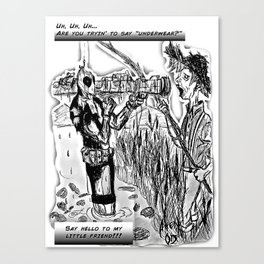 Dead-Pool goin' back in time & reality Canvas Print