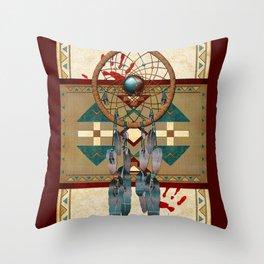 Catching Spirit Native American Throw Pillow