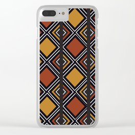 African Tribal Pattern No. 59 Clear iPhone Case