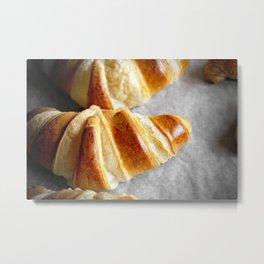 Perfect Croissants Metal Print