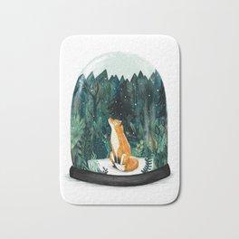 Snow Globe Fox Bath Mat