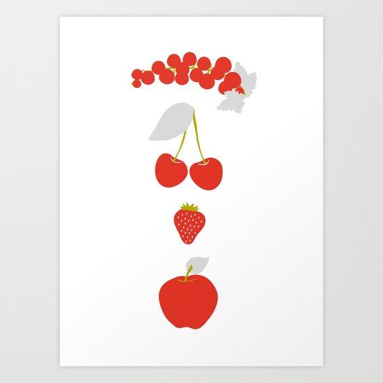 Röda bär Art Print