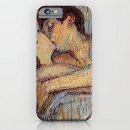 IN BED, THE KISS - HENRI DE TOULOUSE LAUTREC iPhone Case
