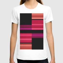 An abstract geometric pattern . Alex 3 T-shirt