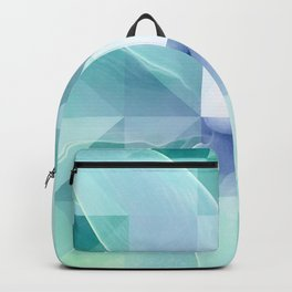 Soft Geo Agave - Aqua and blue Backpack