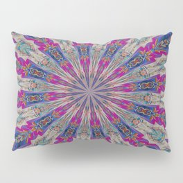 Totem Kaleidoscope In Purple Red and Jade Pillow Sham