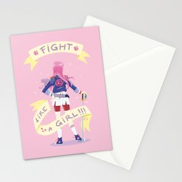 Fight like a girl 2.0 Stationery Cards