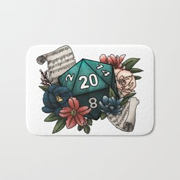 Bard Class D20 - Tabletop Gaming Dice Bath Mat
