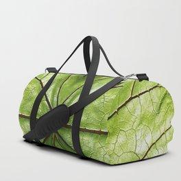 GREEN ORGANIC LEAF WITH VEINS DESIGN ART Duffle Bag