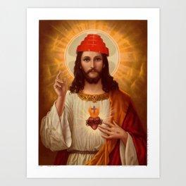 Jesus is Through Being Cool Art Print