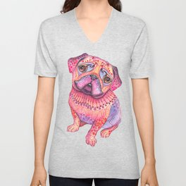 Pugberry Unisex V-Neck