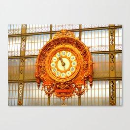 Musee D'Orsay Clock Canvas Print