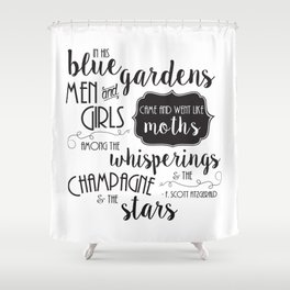 The Champagne & The Stars Shower Curtain