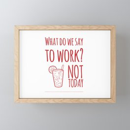 Funny Work & Holidays Framed Mini Art Print