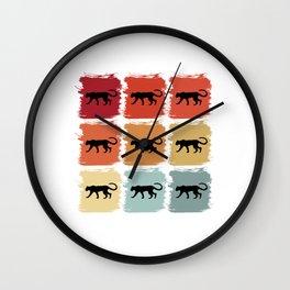 Retro Pop Art Cheetah Leopard Gift Idea Wall Clock