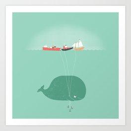 Whale Balloons  Art Print