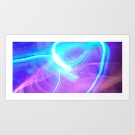 light painting no. 2 Art Print