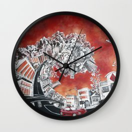 Tsalt Lake Tsunami Wall Clock