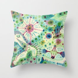 Ink Washes Throw Pillow