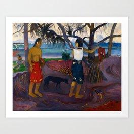 Under the Pandanus II by Paul Gauguin Art Print